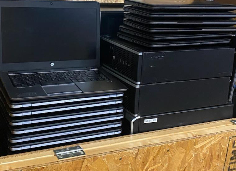 Some of the 55 laptops we received from MEMIC