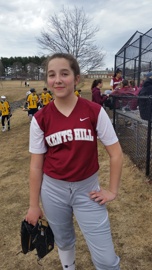 Kellie Scott is a champion softball player at Kents Hill Academy