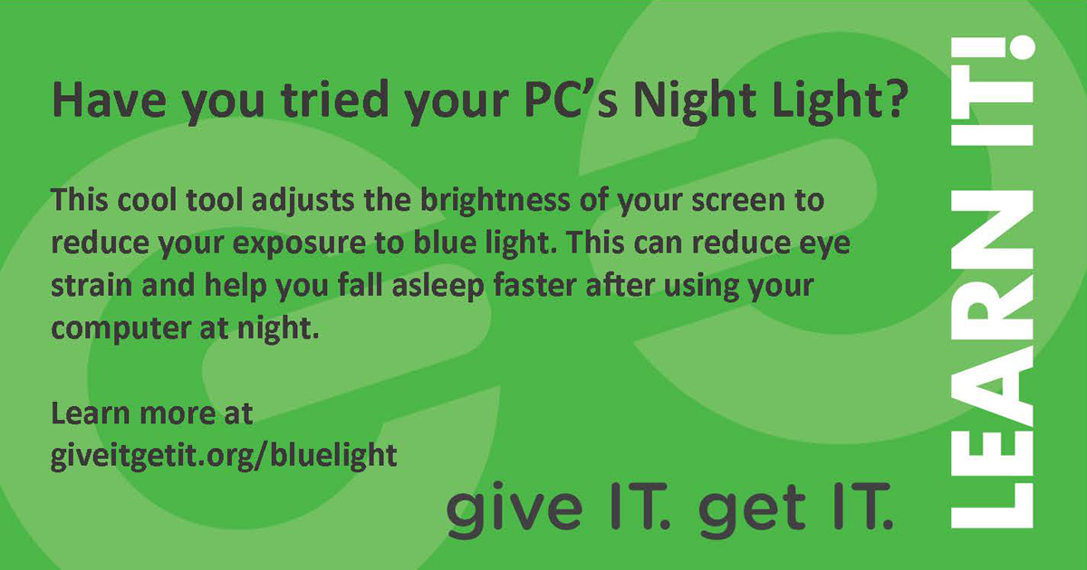 blue light feature